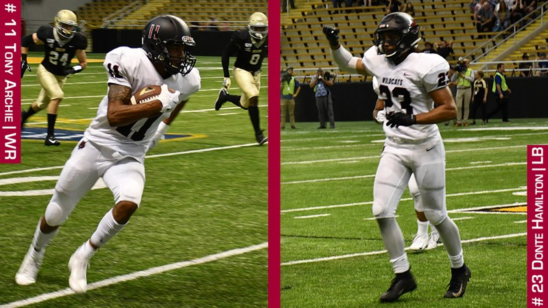 Archie and Hamilton Named GNAC Players of the Week